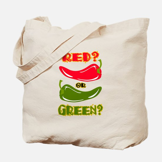 RED? OR GREEN? Tote Bag