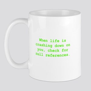 Check for null references Mug