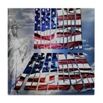 America Freedom Tile Coaster