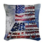 America Freedom Woven Throw Pillow