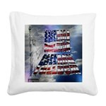 America Freedom Square Canvas Pillow