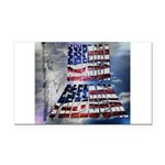 America Freedom Rectangle Car Magnet
