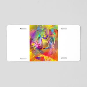 Abstract Banana Aluminum License Plate