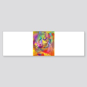 Abstract Banana Bumper Sticker