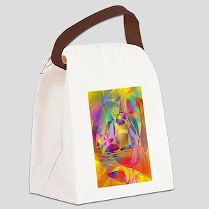 Abstract Banana Canvas Lunch Bag