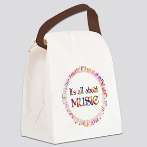 All About Music Canvas Lunch Bag