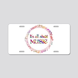 All About Music Aluminum License Plate