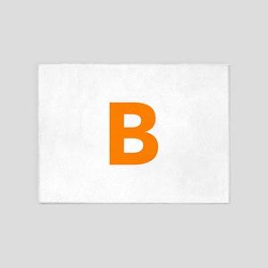 Letter B Orange 5'x7'Area Rug