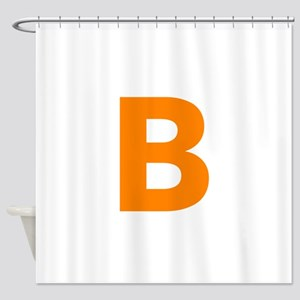 Letter B Orange Shower Curtain