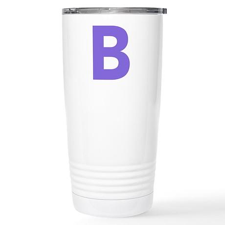 Letter B Purple Travel Mug