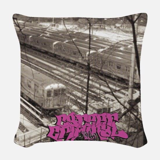 CCTrainsFrt Woven Throw Pillow