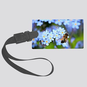 Forget-Me-Not Flowers with Hover Large Luggage Tag