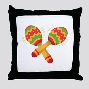 Maracas Rattles Throw Pillow