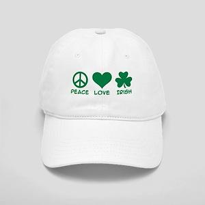 Peace love irish shamrock Cap
