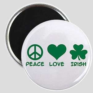 Peace love irish shamrock Magnet