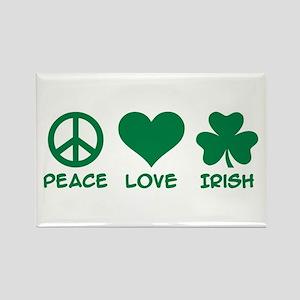 Peace love irish shamrock Rectangle Magnet