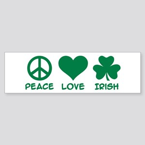 Peace love irish shamrock Sticker (Bumper)
