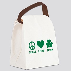 Peace love irish shamrock Canvas Lunch Bag
