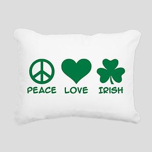 Peace love irish shamroc Rectangular Canvas Pillow