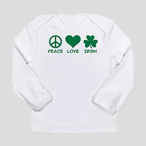 Peace love irish shamro Long Sleeve Infant T-Shirt