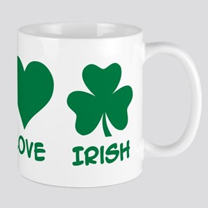 Peace love irish shamrock Mug