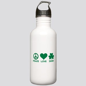 Peace love irish shamr Stainless Water Bottle 1.0L