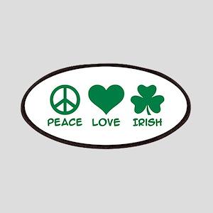 Peace love irish shamrock Patches