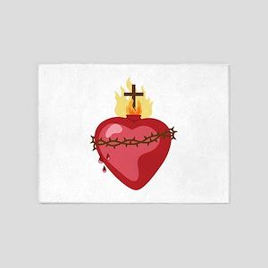 Sacred Heart 5'x7'Area Rug