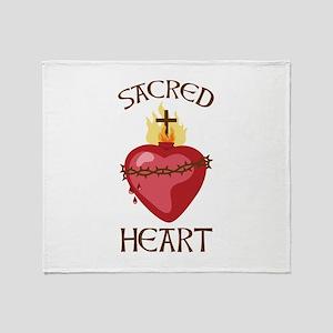 Sacred Heart Throw Blanket