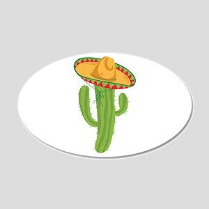 Sombrero Cactus Wall Decal