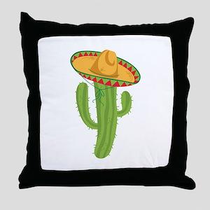 Sombrero Cactus Throw Pillow