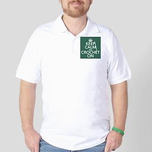 Keep Calm and Crochet On Golf Shirt