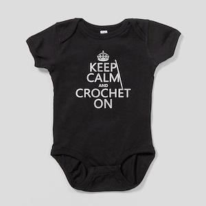 Keep Calm and Crochet On Baby Bodysuit