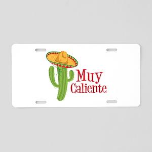 Muy Caliente Aluminum License Plate