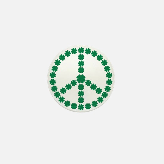 Irish shamrock peace Mini Button