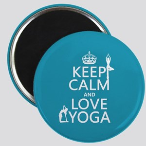 Keep Calm and Love Yoga Magnets