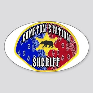 Compton Sheriff Oval Sticker