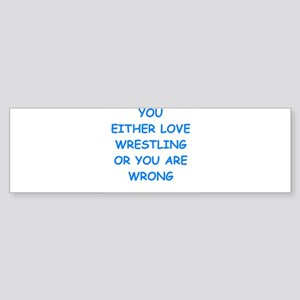 WRESTLING Bumper Sticker