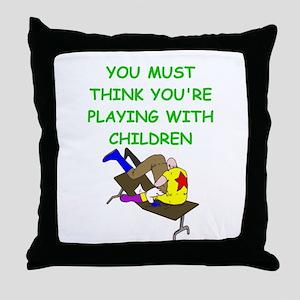 WRESTLING2 Throw Pillow