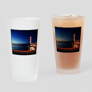 Dobbins Landing at Twilight Drinking Glass