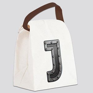J Metal Canvas Lunch Bag
