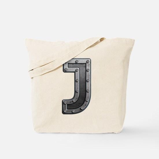 J Metal Tote Bag