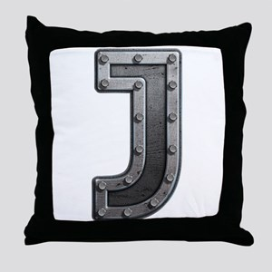 J Metal Throw Pillow