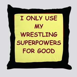 WRESTLING Throw Pillow