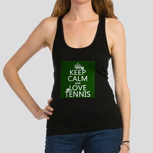 Keep Calm and Love ... Racerback Tank Top