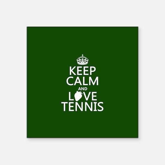 Keep Calm and Love Tennis Sticker