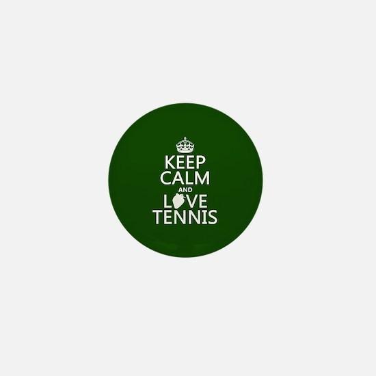 Keep Calm and Love Tennis Mini Button
