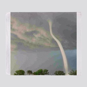 Tornado Waterspout Throw Blanket
