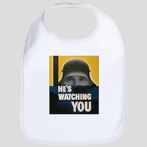 Bush Always Watching You Bib
