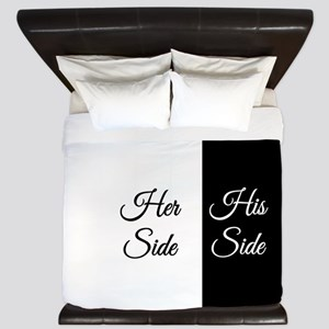 Her Side/His Side King Duvet